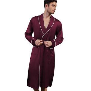 Mens Silk Satin Super Soft Robe