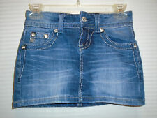 MISS ME WOMAN'S  EMBELLISHED ANGEL WINGS POCKETS JEAN SKIRT SIZE 23