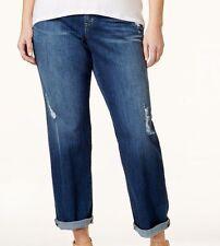 Michael Kors Plus Size Dillon Ripped Antique Wash Boyfriend Jeans 16W -MSRP $135