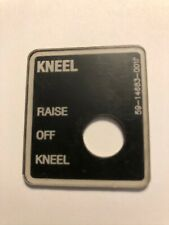 Gillig Bus Parts 59-14683-001 Kneel Dash Sticker Decal