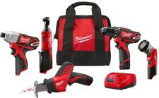 Milwaukee Combo Tool Kit 5-Tool 12-Volt Lithium-Ion Cordless Charger Tool Bag