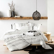 Linen House Olympia White Single Bed Size Duvet Doona Quilt Cover Set RRP149.95