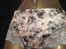 Ladies Silky Satin Feel Lace Knickers Soft Briefs Panties Size 16 Lingerie