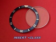 BLUE TOP BEZEL INSERT + GLASS TO  FIT TAG HEUER 1000 VINTAGE MODELS 980.113 M