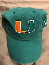 NEW ERA University Of MIAMI Hurricanes Hat Cap Sebastian Flex Fit LARGE FITTED