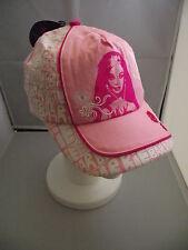 BNWT Girls Pretty Pink/White Barbie Face Logo Sun Safe Summer Cap Size 52cm