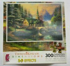 NEW Thomas Kinkade 300 Oversized pcs 3-D Jigsaw Puzzle DOGWOOD CHAPEL