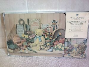 WILSCOMBE 6 Luxury Placemats And Coasters Gardening Design with Teddies