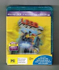 The Lego Movie 3D Blu-ray + Blu-ray (Lenticular Cover) 2-Disc Brand New & Sealed