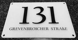 Hausnummernschilder Acryl - Türschild - Büroschild - Nummernschild