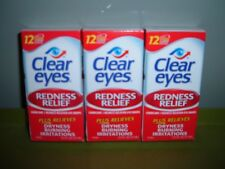 3 New Clear Eyes Redness Dryness Burning Relief Lubricant Sterile Eye Drops 7/20
