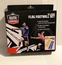 Elite Athletics Flag Football Flags set 10 Man Set Flags And Cones Adult Youth