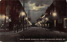 Excelsior Springs MO~Night Lights Marietta Street~Ladies & Gents~Shoes~1908