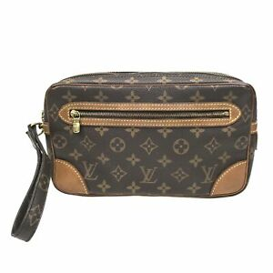100% Authentic Louis Vuitton Monogram Marly Dragonne GM M51825 [Used] {08-0273}