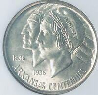 1939-D Arkansas Commemorative Silver Half Dollar - NGC MS-65 -Mint State 65