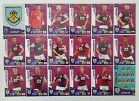 2020/21 PANINI Adrenalyn EPL Soccer Cards - Burnley Team Set (18 cards)