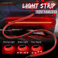"40"" Car Brake Light Bar Flexible Red Turn signal Lamp LED Strip 3 Modes Lights"