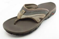 Teva Size 11 M Brown Flip Flop Leather Men Shoes
