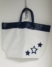 Large Navy Blue and White Nylon Star Tote Brand New Without Tags Unbranded