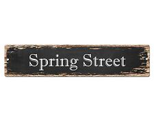 SP0523 SPRING STREET Street Sign Home Room Cafe Store Shop Bar Chic Decor Gift