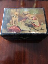 OLD CLARK'S O.N.T. SPOOL COTTON THREAD BOX - WOODEN