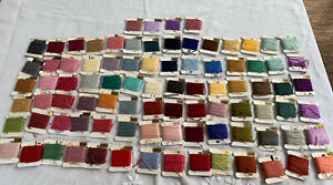 88 EMBROIDERY CROSS STITCH FLOSS ON CARDS THREAD LOT