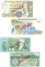 Guernsey- 1994 £50 and 1991 £1  Banknotes (UNC)