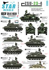 Star Decals 35-C1031, Decal ZSU-23-4 Soviet (USSR) & Russian, 1:35