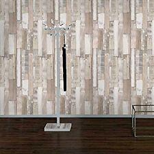 Bois Blanc Planche Panneau Papier Peint - Rasch 203714 - Neuf Texturé