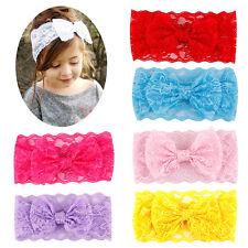 7pcs Girl Baby Toddler Flower  Bowknot Crown Elastic Headband Hair Accessories