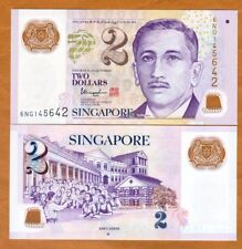 Singapore, 2 Dollars, ND (2016), Polymer, P-46h, UNC >  One Hollow Star