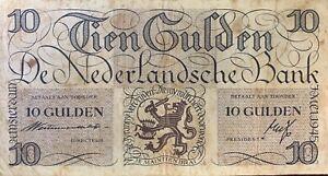 Billet de 10 Gulden 1945 Pays-bas P.074