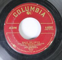 Jazz 45 Louis Armstrong & His All-Stars - Mack The Knife / Back O' Town Blues On