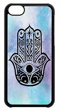 Cute Case For Apple iPod 4 5 6 Hard Back Skin Cover Hamsa Hand Evil Eye Guard