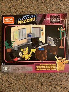 Mega Construx Bloks Pokemon Detective Pikachu Office Pack 183 PCS New