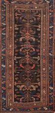 Antique Pre-1900 Vegetable Dye Geometric Bakhtiari Area Rug Handmade Wool 3'x6'