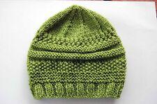 Hand knitted Baby Hat Pistachio Green  Newborn