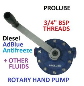 PROLUBE ROTARY HAND PUMP FOR CHEMICALS, RYTON, PTFE