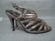 STAR BY JULIEN MACDONALD UK 4 PEWTER METALLIC SANDALS