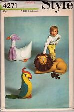 Style Vintage 1973 HUMONGOUS Sewing Pattern, 3 XXL Stuffed Toys Repro Copy