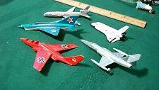 Vintage toy Parts lot Metal Airplanes Jet Matchbox Zyimex Space Shuttle Ertl