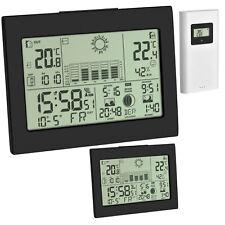 Funk Wetterstation Horizon Plus TFA 35.1155.01.99 Thermometer Funkuhr 2 Display