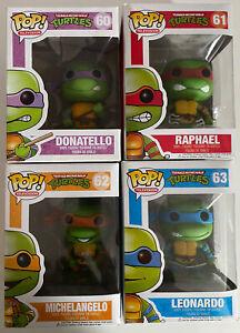 Funko POP! Teenage Mutant Ninja Turtles Vinyl Figure Bundle Set #60 #61 #62 #63
