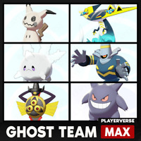 Pokemon Sword & Shield - Ghost Monotype Battle Team - Ultra Shiny 6IV Bundle