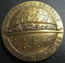 Médaille CENTENAIRE DE LA CONFEDERATION GENERALE DU TRAVAIL 1895-1995 - 73 mm