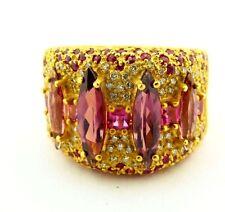 Stunning Sonia B. Designer 21.1g 18k Yellow Gold Diamond & Multistone Ring