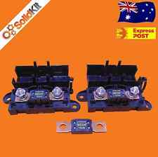 DUAL MEGA FUSE HOLDER Kit Dual Battery Systems, Audio, Solar, AGM, Marine