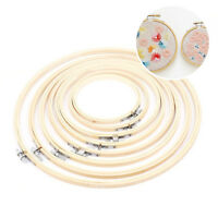 Wood Cross Stitch Machine Embroidery Round Hoop Ring Craft Bamboo Sewing 13-34cm