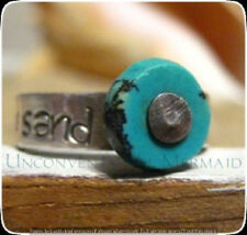 """sand"""" turquoise Ring Size 5 Sterling Silver """"footprints In The"""