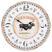 Clayre &Eef  Wanduhr Uhr Deko Landhaus Shabby Farmefresh Vintage 34cm